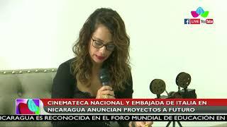 Cinemateca Nacional y embajada de Italia en Nicaragua anuncian proyectos a futuro