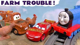 Cars 3 McQueen and Mater hide and seek Animals with Thomas Trains and the funny Funlings TT4U