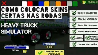 Como colocar skins de modo certo nas rodas - Heavy truck simulator