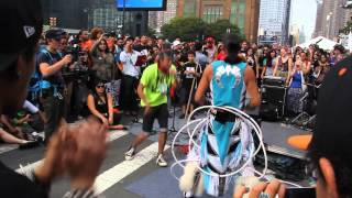 """Frank Waln performing after NYC Climate March 2014 """"Hoka Hey"""""""