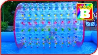 🐻 Giant WATER BALLS in a pool. POOL BALLS.   Fun activities for Kids  with Bogdan's Show and
