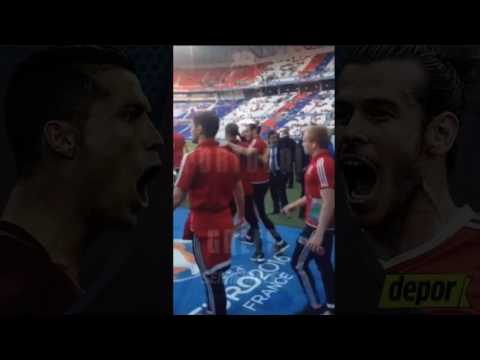 Gareth Bale and  Pepe met Before Portugal vs Wales | Euro 2016