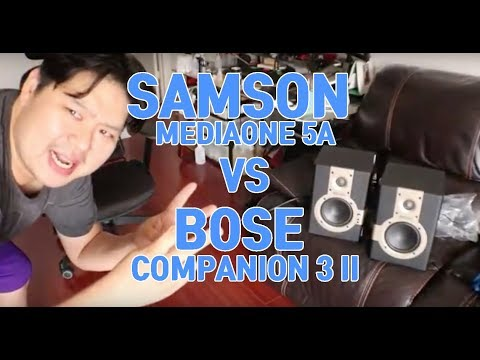 Samson MediaOne 5a Vs Bose Companion 3 II