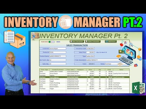 How to create inventory management in excel
