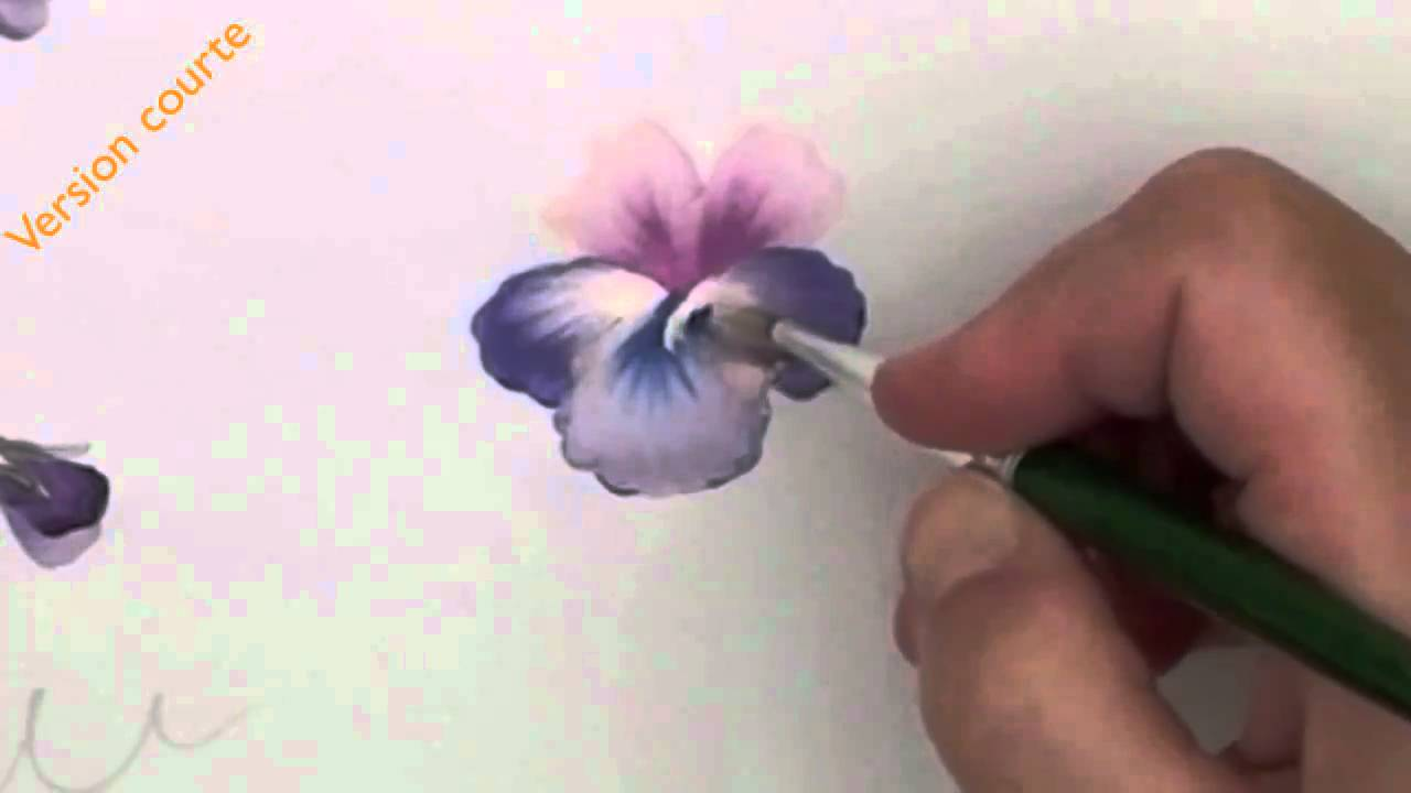 Peinture d corative pens es violettes youtube for Peinture decorative