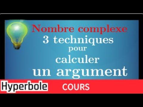 ARGUMENT d'un Nombre Complexe : Les 3 techniques pour calculer un argument - Cours - Très important