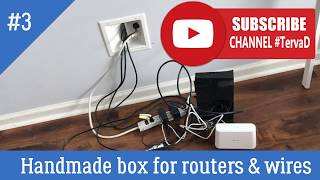 #TervaD How to build TV Box Cabinet to hide routers, TV receivers, WIFI cables & wires - DYI project