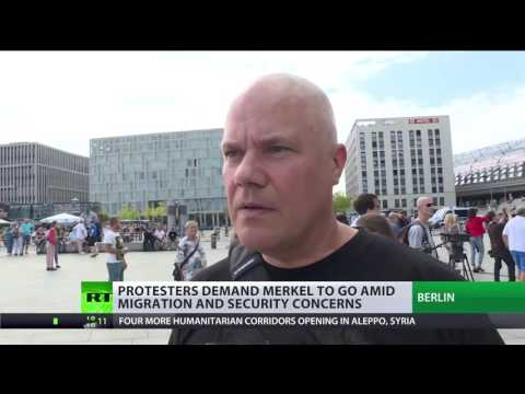 Thumbnail: 'Merkel must go': Protesters demand German chancellor to go amid migration & security concerns