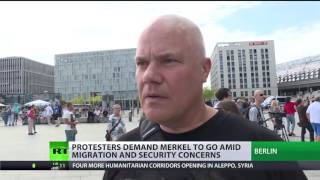 'Merkel must go': Protesters demand German chancellor to go amid migration & security concerns
