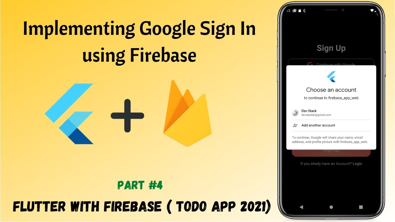 Flutter - Implementing Google Sign In using Firebase  || TodoApp #04