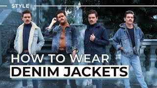 How To Style A Denim Jacket | Men