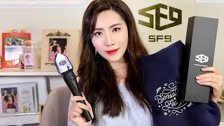 Opening SF9 Official FANTASY 지구봉 JiGuBong Light Stick & Seasonal Blanket!