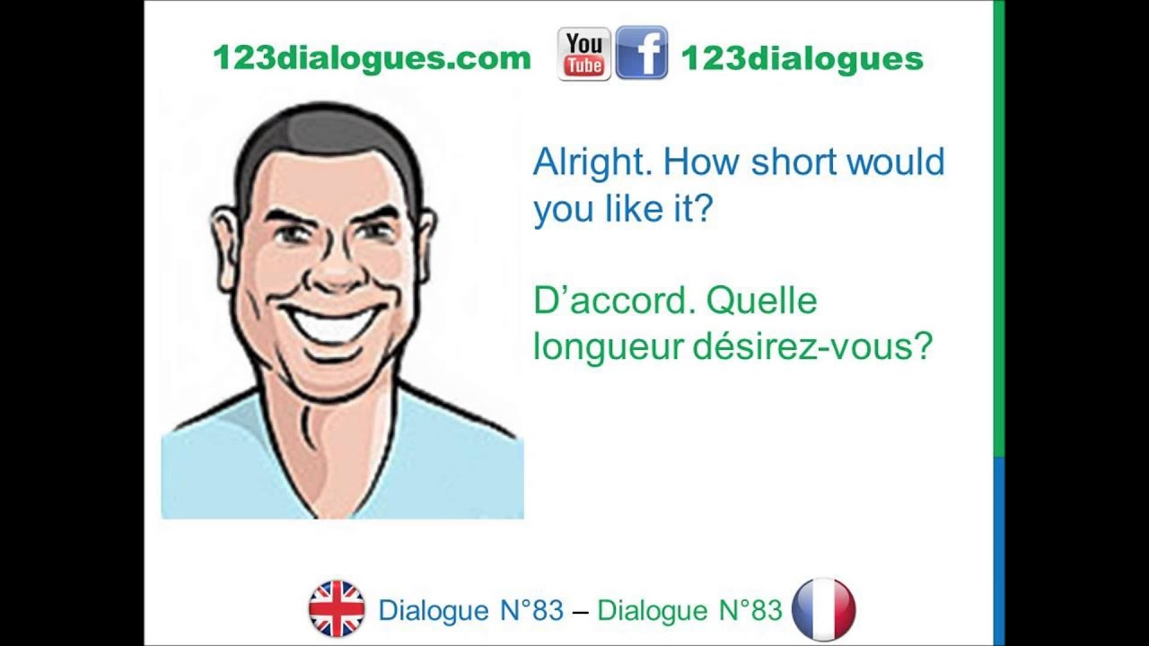 Dialogue 83 English French Anglais Francais At The Hairdresser S