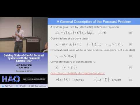 Jeff Anderson | NCAR IMAGe | Building State-of-the-Art Forecast Systems with the Ensemble Kalman
