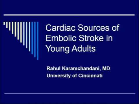 Cardiac Sources of Embolic Stroke in Young Adults