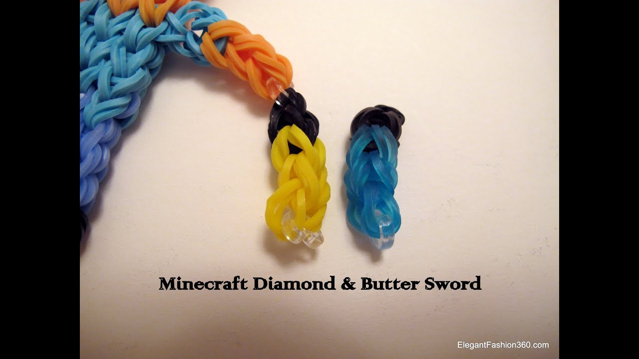 How To Make Minecraft Diamond Amp Gold Swords On Rainbow