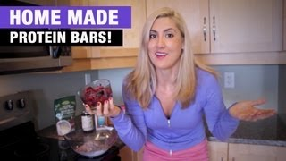 Homemade Protein Bar Recipe - 35 Grams Protein Per Bar!!