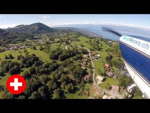 Scenic Flight Across Switzerland in a Cessna 172XP