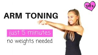 ARM 💪🏽  EXERCISES FOR 💃 WOMEN - 5 MINUTE ARM TONING  WORKOUT  -and find out how to lose arm fat