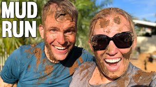 Mom Vs Dad INSANE MUD RUN Challenge at Tough Mudder || Mommy Monday