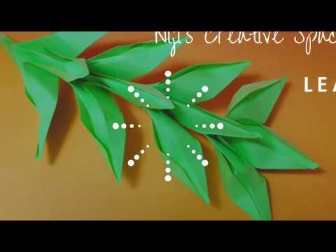 DIY leaf/ paper craft/origami leaf