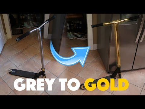 CUSTOM GOLD APEX SCOOTER!!