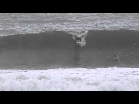 Joel Parkinson surfing in Newcastle Harbour