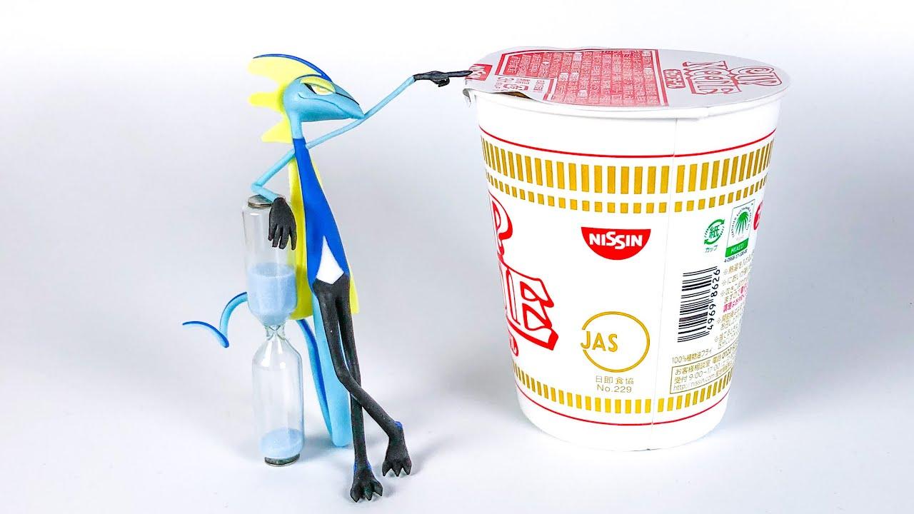 【粘土】フタを押さえてくれるインテレオン 作ってみた【ポケモン】Inteleon Noodle Stopper - Polymer Clay