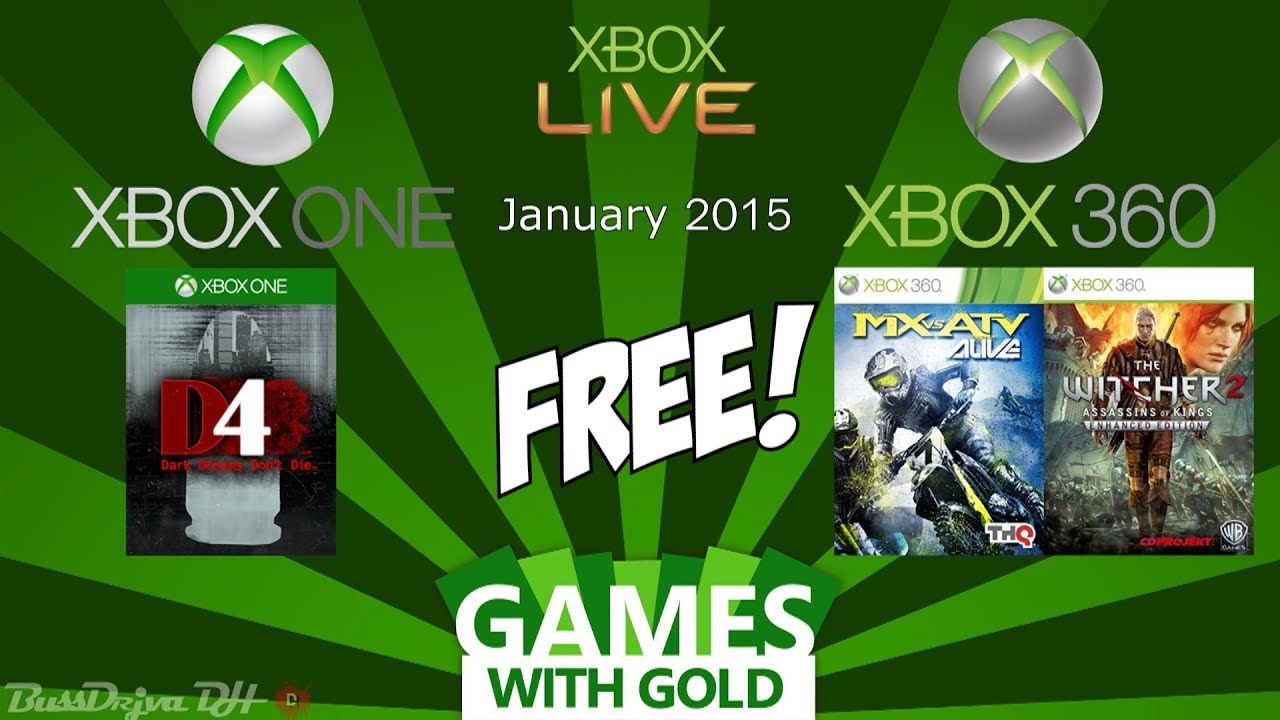 Xbox Free Games With Gold January 2015 Xbox One Xbox