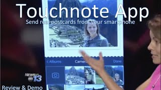 Touchnote App:  Create and send postcards directly from your smartphone.