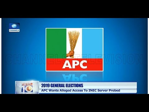 APC Asks IGP, DSS To Investigate PDP Over 'Access To INEC Server' Pt.1 25/03/19 |News@10|