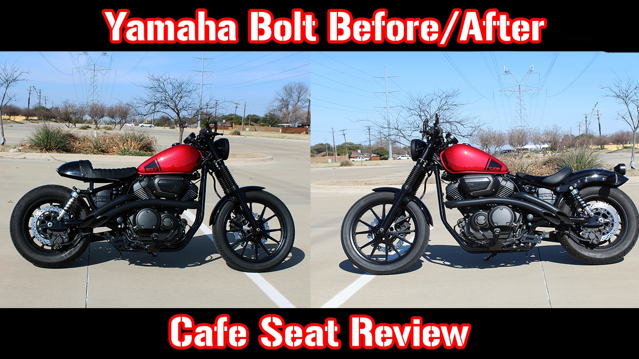 cafe seat on yamaha bolt review (before/after) - youtube
