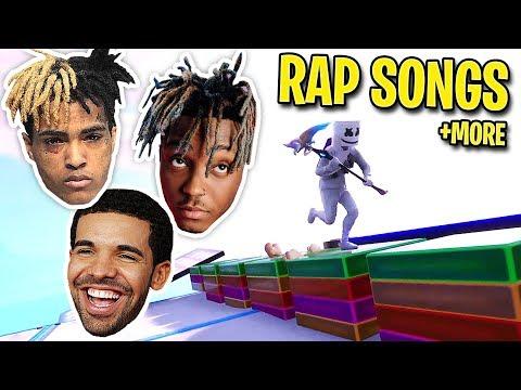 We RECREATED Popular Rap Songs Using Music Blocks In Fortnite! (Mo Bamba, Lucid Dreams, SAD! & MORE)