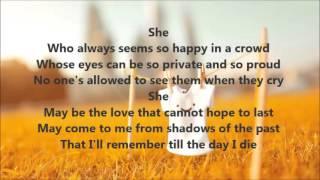 She lyrics by Elvis Costello from Notting Hill soundtrack