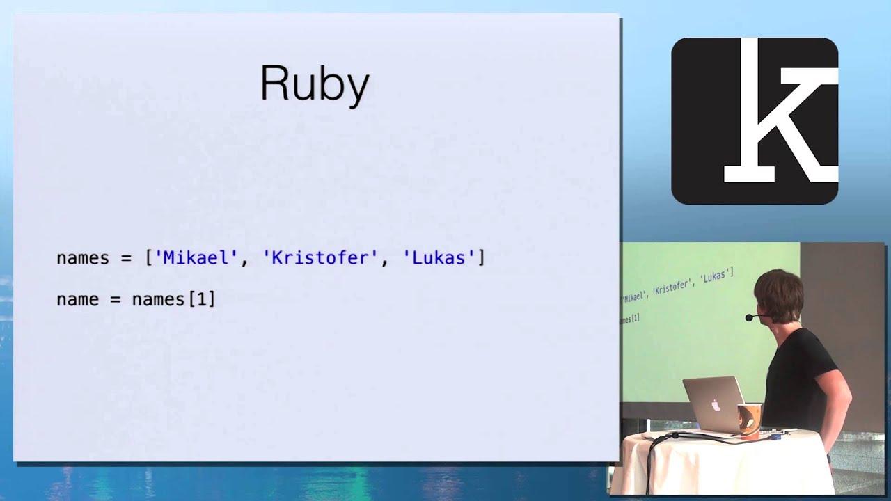Kod.io 2014 – Objective-C for Rubyists by Mikael Konutgan