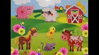 Изучаем домашних животных - Собираем пазл - Раннее развитие ребёнка