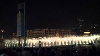 Dubai Fountain with Arabic Song. 18.02.2013