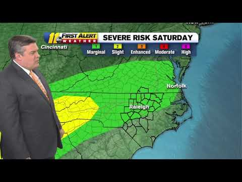 Weather Forecast: Raleigh Area At Low Risk For Severe Weather Saturday