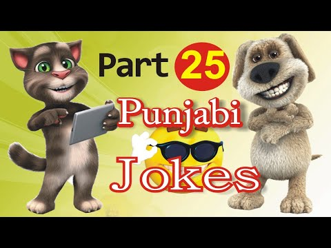Funny Jokes in Punjabi Talking Tom & Ben News  Episode 25