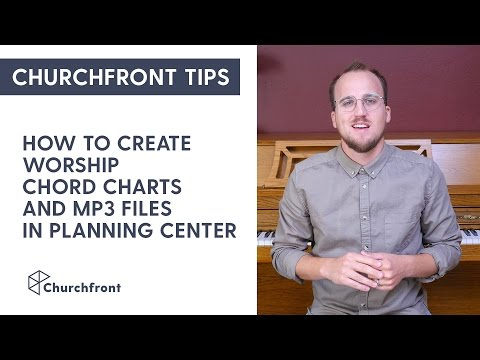 How to prepare worship chord charts and MP3 files in Planning Center