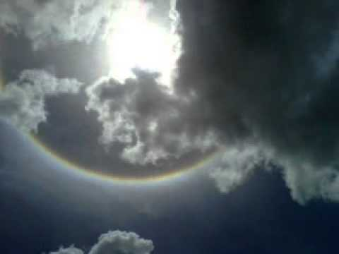 AMAZING RAINBOW AROUND THE SUN (SHOT IN TRINIDAD)
