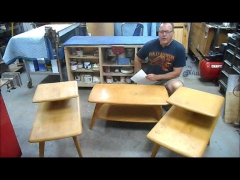 Restoration of Heywood Wakefield Living Room Table Set from 1952