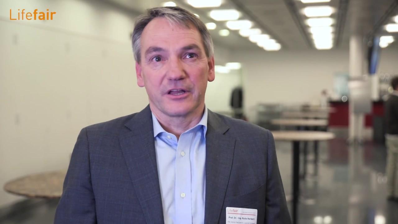 Herbert Ruile, Präsident Verein Netwerk Logistik FHNW am 29 ...