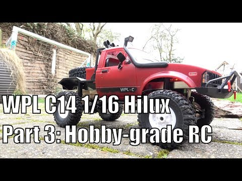 WPL C14  Hilux part 3: fitting hobby-grade RC to kit version