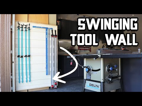 Double your wall space with a swinging tool wall!
