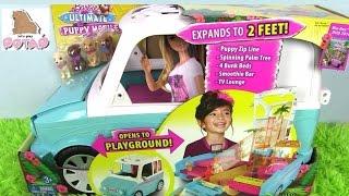 Мультики Барби. Машина и Игровая Площадка ЩЕНЯТ ИЗ НОВОГО МУЛЬТИКА Ultimate Pup Mobile Кукла Барби