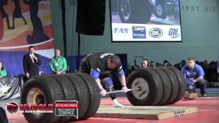 2014 Arnold Strongman Classic Zydrunas Savickas Hummer Tire Deadlift World Record 1,150lbs