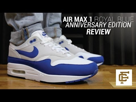 NIKE AIR MAX 1 ROYAL BLUE ANNIVERSARY REVIEW YouTube