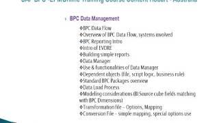 Sap Bpc- Epm Online Training Course Content Hobart, Australia