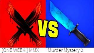 ROBLOX MURDER MYSTERY DRAMA!! *MM2 VS MMX*